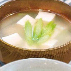 アスパラのお味噌汁